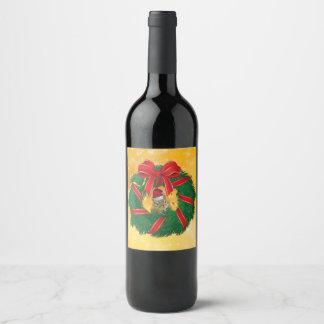 Étiquette Pour Bouteilles De Vin Guirlande mignonne de Noël de tamia