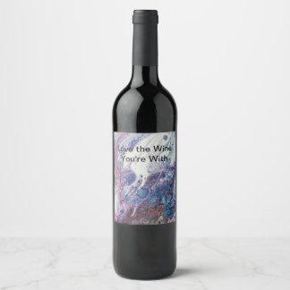 Étiquette Pour Bouteilles De Vin Infini coloré d'étiquette de vin