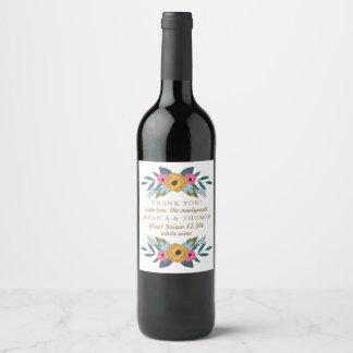 Étiquette Pour Bouteilles De Vin La collection blanche de mariage de guirlande
