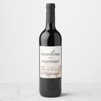 Étiquette Pour Bouteilles De Vin La coutume de marbre de décor de Tableau