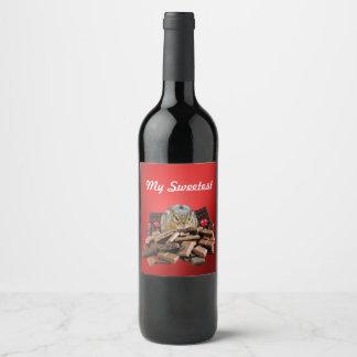 Étiquette Pour Bouteilles De Vin La tamia de chocolat de jour la plus douce de