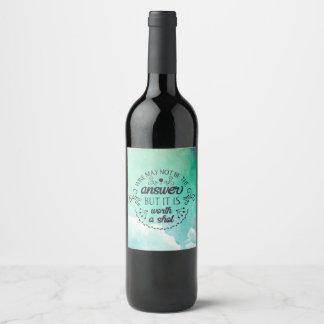 Étiquette Pour Bouteilles De Vin Le vin drôle peut ne pas être la bouteille de vin