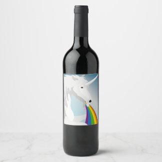 Étiquette Pour Bouteilles De Vin Licornes vomissantes d'illustration