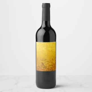 Étiquette Pour Bouteilles De Vin Motif PUR de FEUILLE d'OR + votre texte/photo