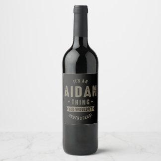Étiquette Pour Bouteilles De Vin Nom d'Aidan