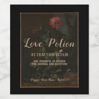 Étiquette Pour Bouteilles De Vin Philtre d'amour vintage personnalisé de pot