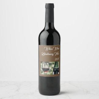 Étiquette Pour Bouteilles De Vin Photo Editable | des bouteilles de vin |