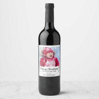 Étiquette Pour Bouteilles De Vin Photo rustique de Noël de sucre de canne