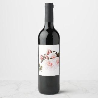 Étiquette Pour Bouteilles De Vin Rose rose de vin sur le blanc