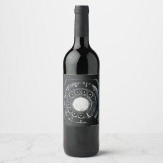 Étiquette Pour Bouteilles De Vin Téléphone rotatoire vintage