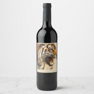 Étiquette Pour Bouteilles De Vin tigre