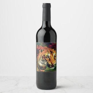 Étiquette Pour Bouteilles De Vin Tigre de Bengale