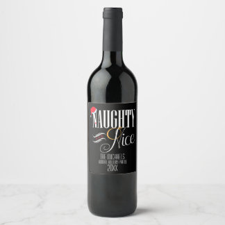 Étiquette Pour Bouteilles De Vin Vilain et Nice, fête de vacances