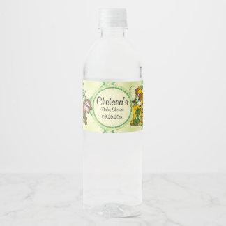 Étiquette Pour Bouteilles D'eau Animaux de bébé de jungle de safari - baby shower