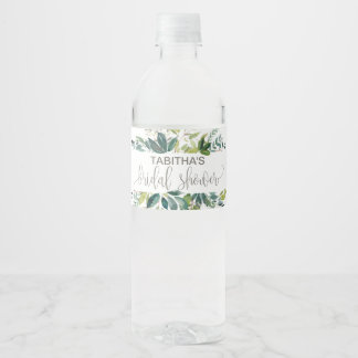 Étiquette Pour Bouteilles D'eau Douche nuptiale de feuillage