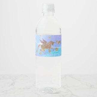 Étiquette Pour Bouteilles D'eau Fête d'anniversaire magique de licorne de vol de