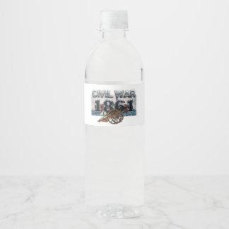 Étiquette Pour Bouteilles D'eau Guerre civile 1861 d'ABH