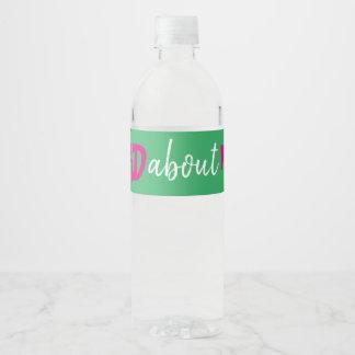Étiquette Pour Bouteilles D'eau Hashtag Bachelorette Bottle Label Pink Green White