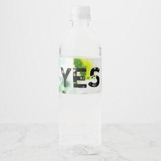 Étiquette Pour Bouteilles D'eau Je serai heureux et me réjouirai
