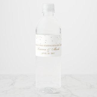 Étiquette Pour Bouteilles D'eau La collection fascinante vintage de mariage de