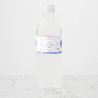 Étiquette Pour Bouteilles D'eau Le genre indiquent le baby shower lui ou elle baby