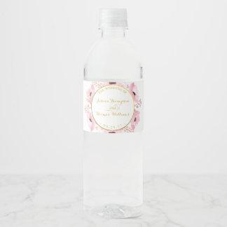 Étiquette Pour Bouteilles D'eau Le ressort dentelle la collection florale de