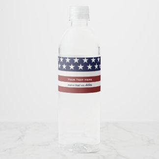 Étiquette Pour Bouteilles D'eau Les Etats-Unis drapeau américain coutume
