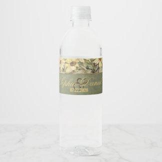 Étiquette Pour Bouteilles D'eau Marguerites d'or avec l'étiquette sage de