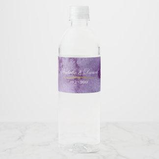 Étiquette Pour Bouteilles D'eau Mariage ultra-violet d'aquarelle