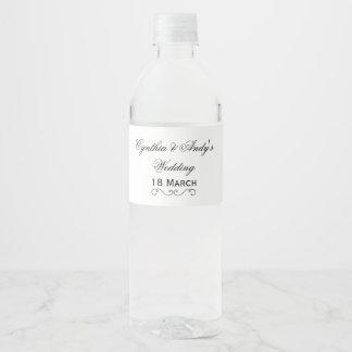 Étiquette Pour Bouteilles D'eau Personnalisé épousant l'emballage de bouteille