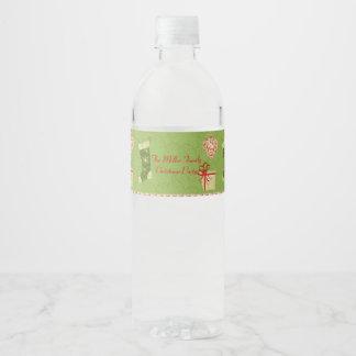 Étiquette Pour Bouteilles D'eau Rétros cadeaux de Noël