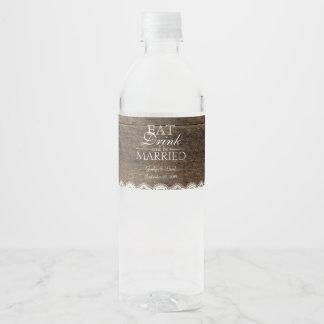 Étiquette Pour Bouteilles D'eau Souffle en bois de Babys de pot de maçon de