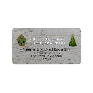 Étiquette Premier Noël dans notre nouvelle adresse de retour