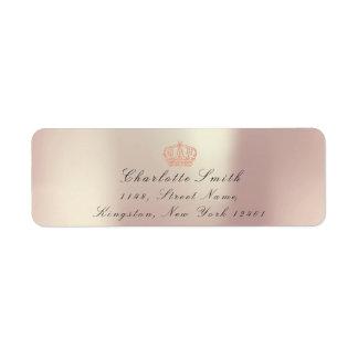 Étiquette Princesse héritière rose nacrée des parties