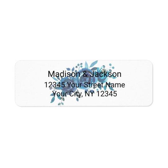 Étiquette Quelque chose aquarelle bleue épousant l'adresse