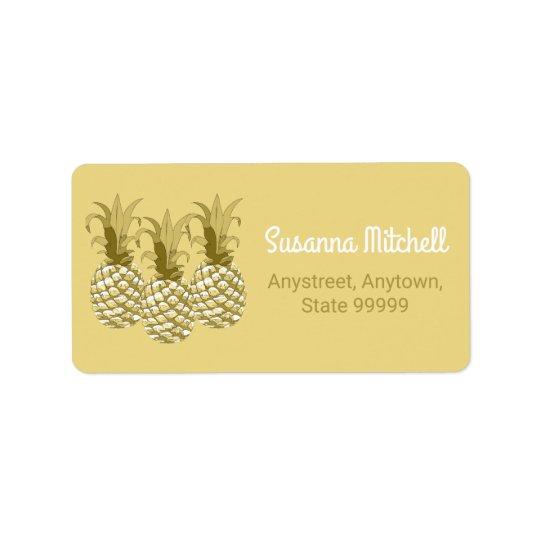 Étiquette Rangée ID239 d'or d'ananas