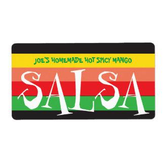 Étiquette Rayures colorées de Salsa fait maison
