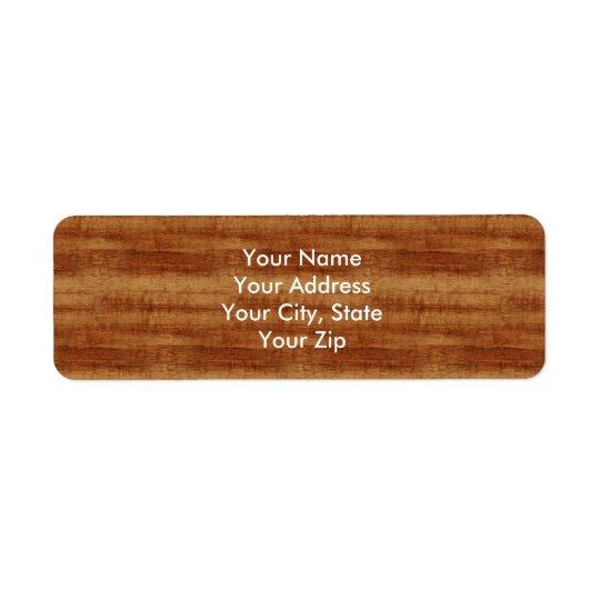 Étiquette Regard du bois de grain d'acacia bouclé de Koa