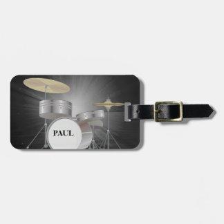 Étiquette réglée de bagage de tambour avec le étiquette à bagage