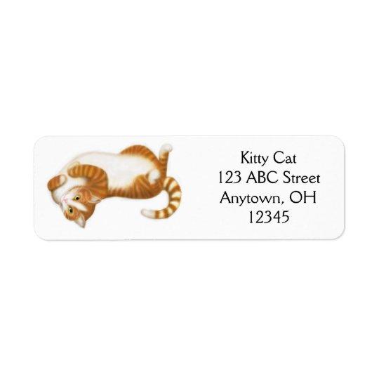 Étiquette Relaxed de chat tigré de gingembre