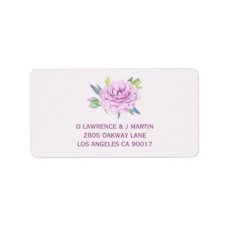 Étiquette Ressort pourpre de Ranunculus floral