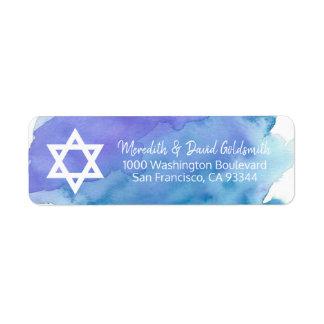 Étiquette Retour de Mitzvah de barre d'étoile de David