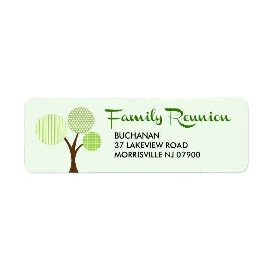 Étiquette Retour lunatique de la Réunion de famille d'arbre
