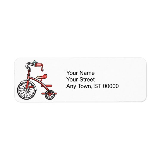 Étiquette rétro tricycle