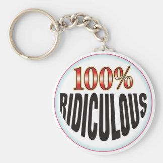 Étiquette ridicule porte-clef