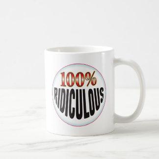 Étiquette ridicule tasses à café