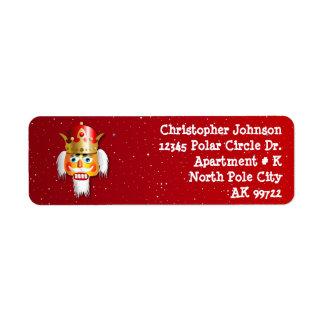 Étiquette Roi customisé de casse-noix de Noël