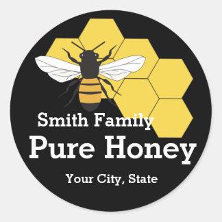Étiquette rond de support de ferme d'abeille de