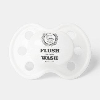 étiquette ronde affleurante de lavage sucette pour bébé