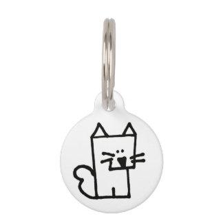 Étiquette ronde d'animal familier de Meepple de Médaillon Pour Animaux